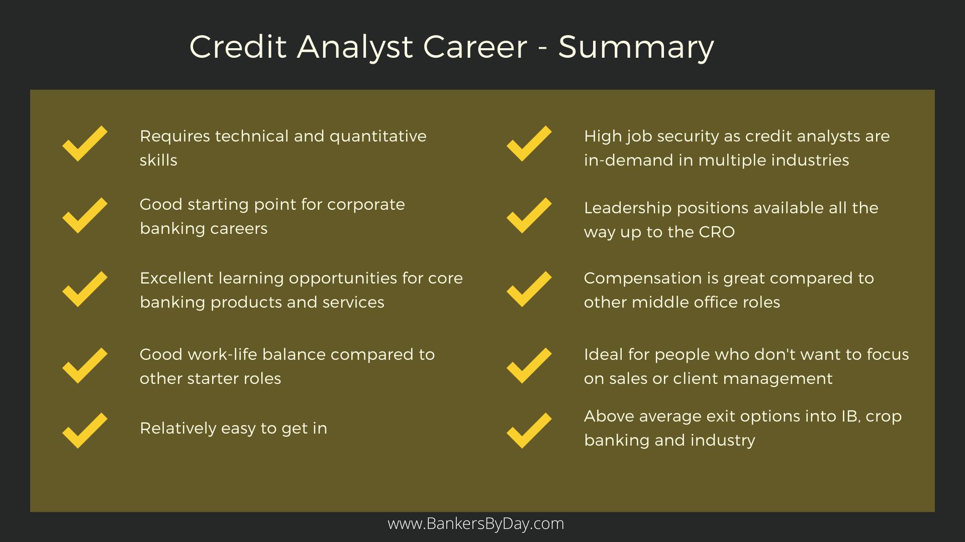 Credit Analyst Info